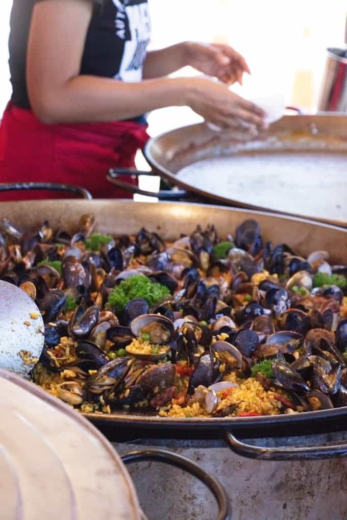 Paella food booth at the Sequim lavender festival