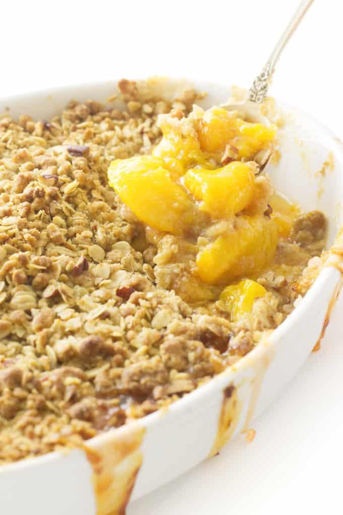 Easy Peach Crisp with Oatmeal Crumble