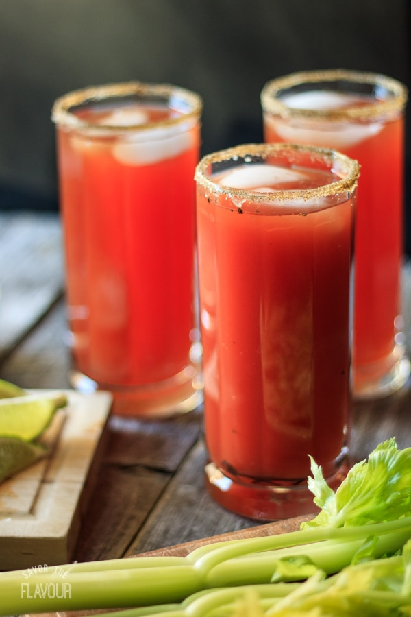 Best Caesar Mocktail: an easy recipe for a non alcoholic Caesar with classic clamato and a simple garnish of celery salt and a celery stick. Make it spicy or mild! | www.savortheflavour.com