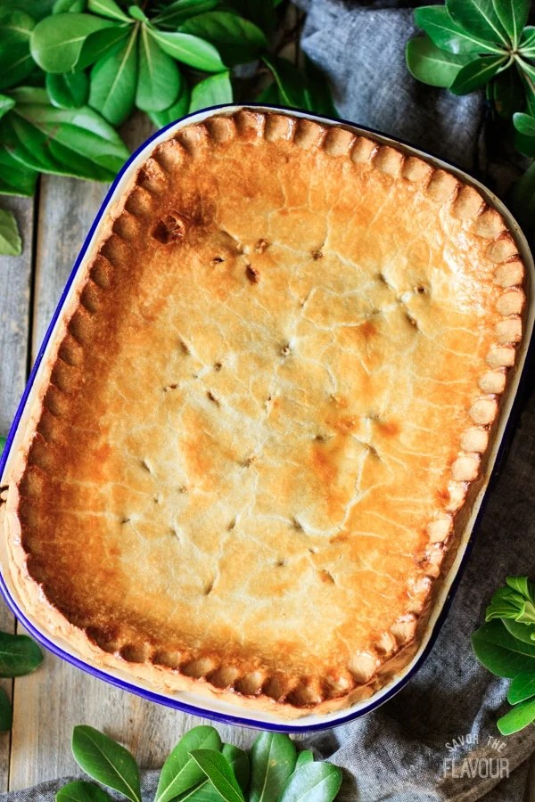 baked beef and potato pie