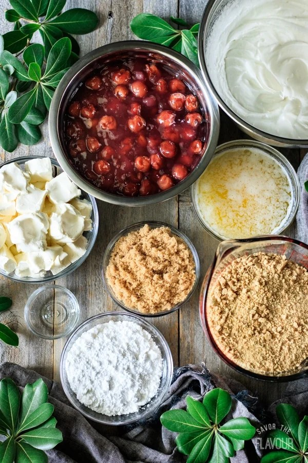 ingredients for no bake cherry cheesecake