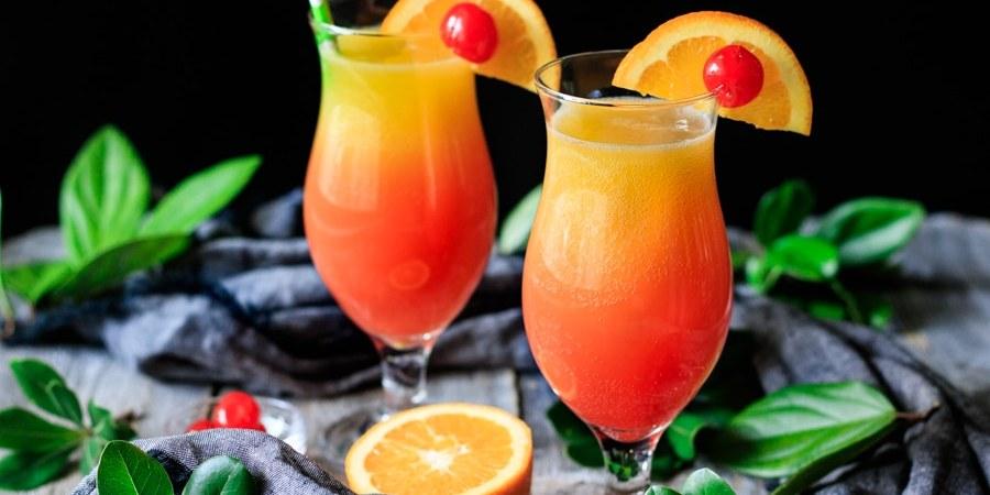 two sweet sunrise drinks