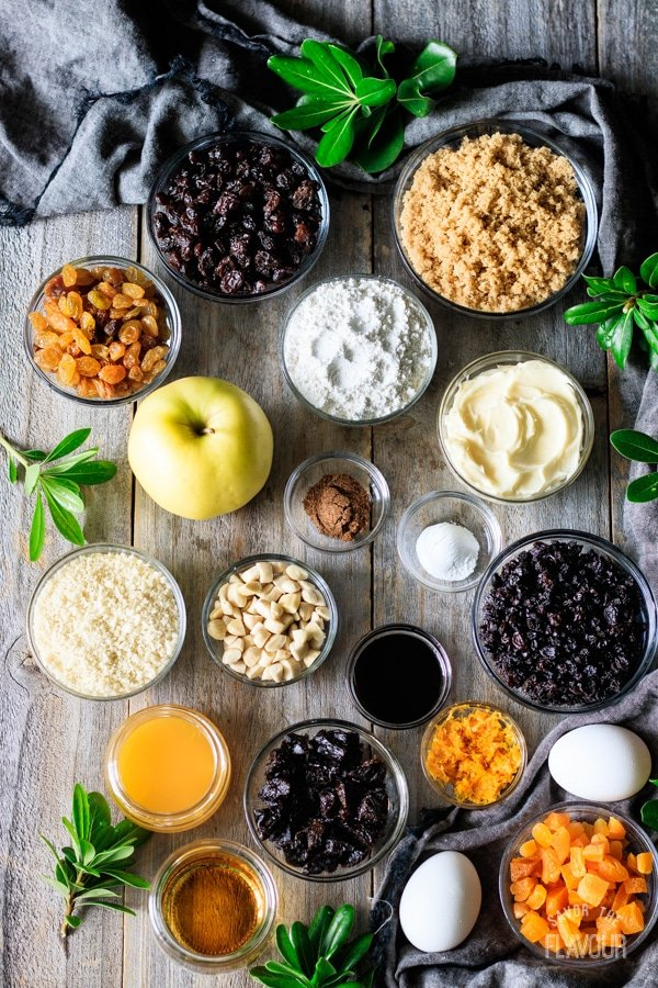 ingredients for plum pudding