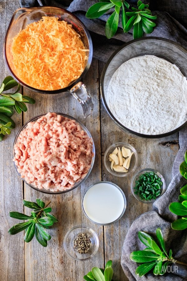 ingredients for cheesy sausage balls