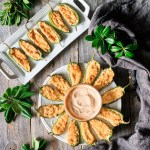 jalapeño poppers with sriracha mayo