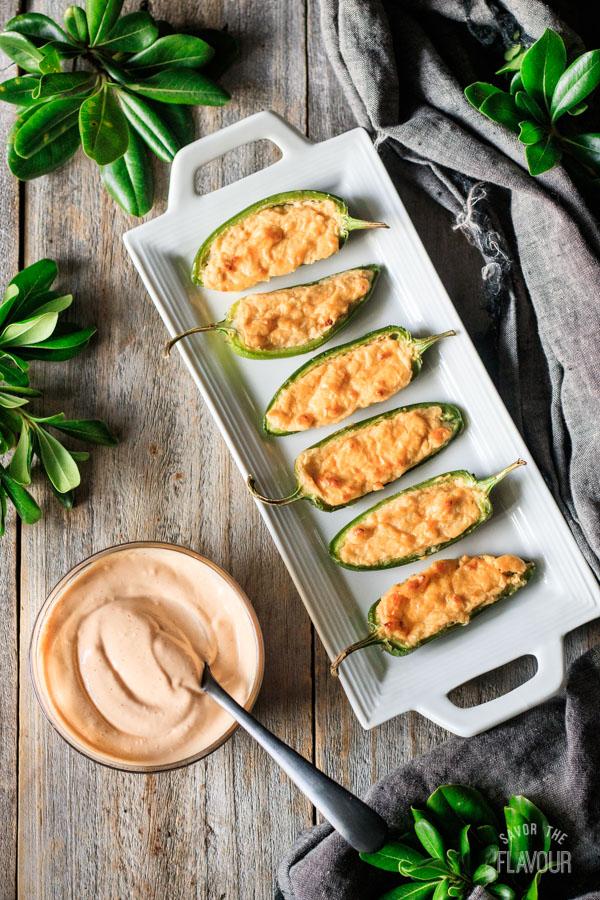 jalapeño poppers on a plate