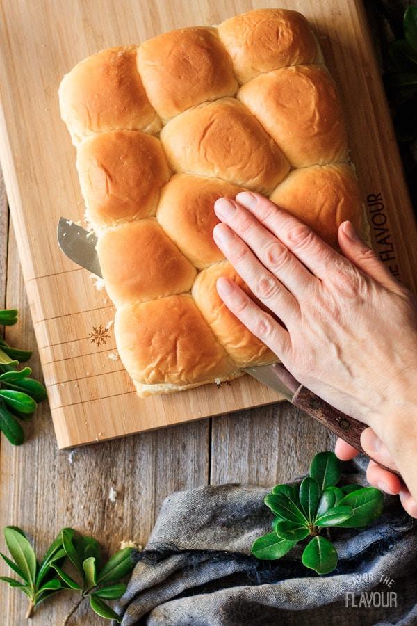 slicing buns for sloppy joe sliders