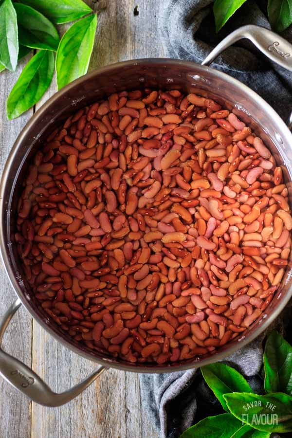 red beans for red beans and rice before soaking