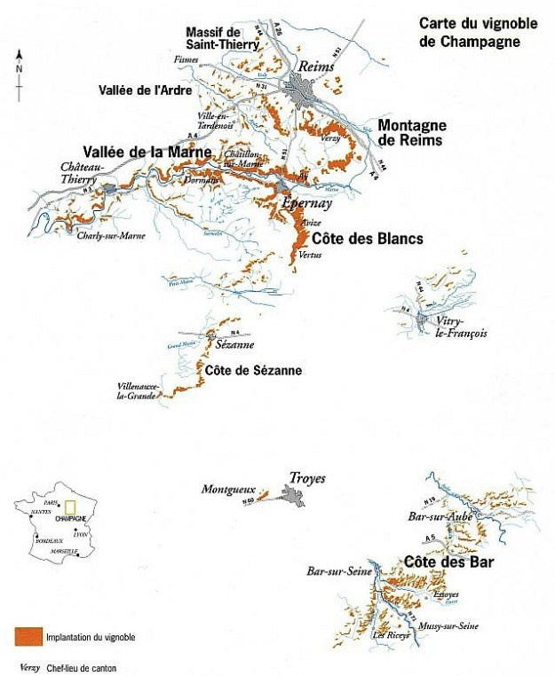 Champagne Map