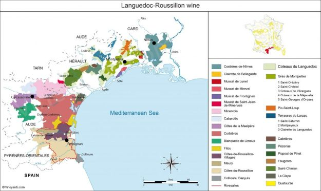 Languedoc Roussillon map