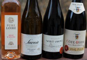 Savoie Saint-Amour Rose d'Anjou Cote Rotie wines