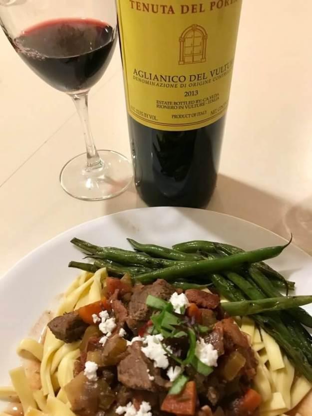 aglianico del Vultura wine beef stew