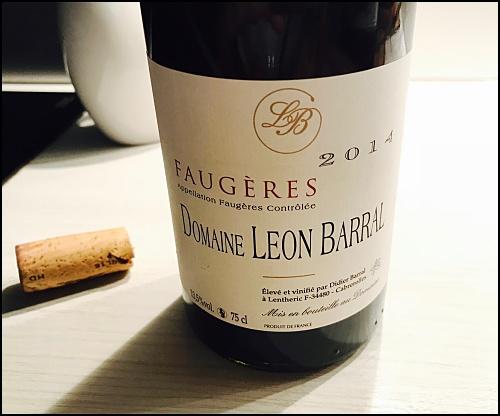 Domaine Leon Barral Faugères 2014 red wine