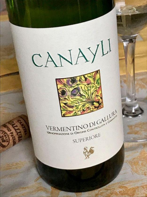 Cantina Gallura Canayli vermentina superiore sardinia