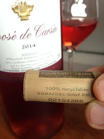 Bordeaux Rosé de Carsin wine France