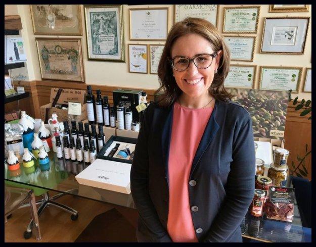 Marina De Carlo Bari Italy organic extra virgin olive oils