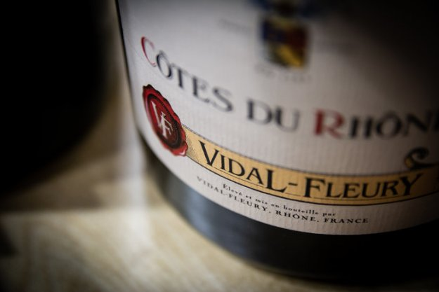 Vidal Fleury Côtes du Rhone Rouge french wine