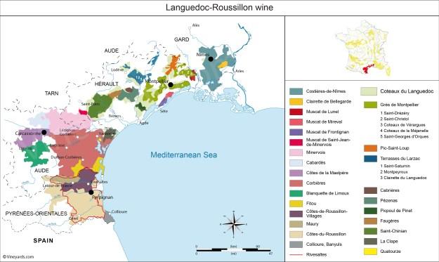 languedoc wine region map