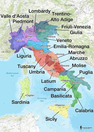 Fernando Beteta Italy wine map