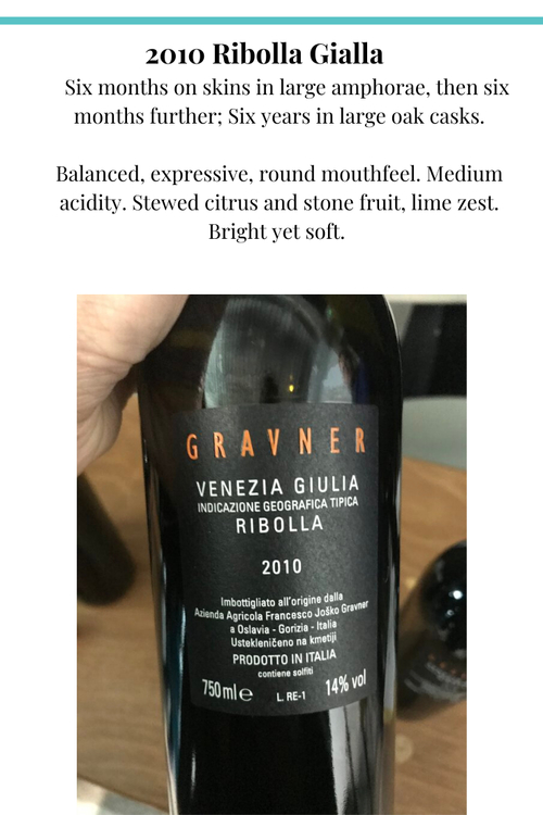 gravner 2010 ribolla gialla italy orange wine