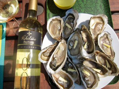 Rubalino Albariño Senorio de Rubios Rias Baixas food pairing oysters