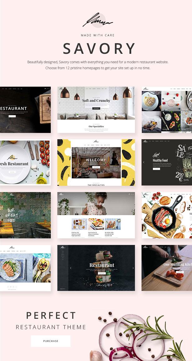 Savory - A Beautiful Restaurant WordPress Theme 1