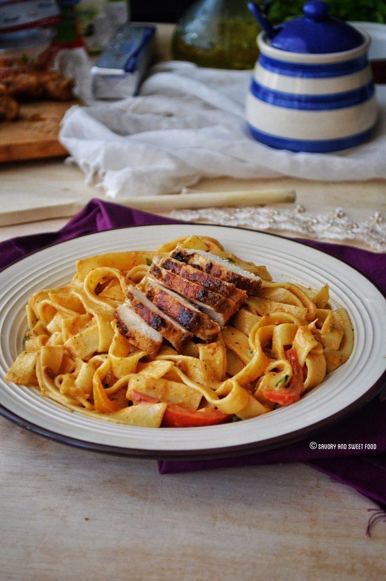 alfredo chicken pasta