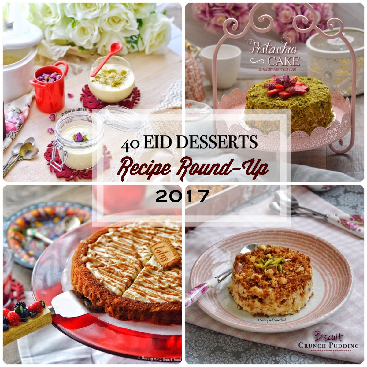 40 Eid Desserts Recipe Round-Up 2017