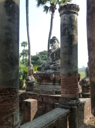 Buddha in ruins