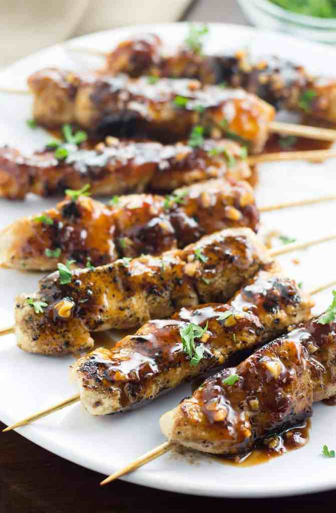I made these delicious Apricot and Ginger Glazed Chicken Skewers for dinner the other night and now my hubby is asking for them again! Husband approved!