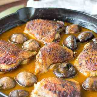 Easy One Pan Golden Mushroom Chicken