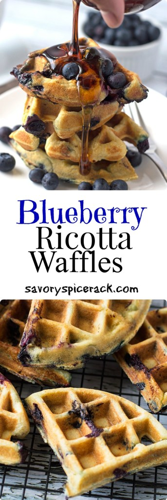 Blueberry Ricotta Waffles leads you in the right direction for a delicious and easy brunch or breakfast. Plus these waffles are freezer friendly for meal planning...
