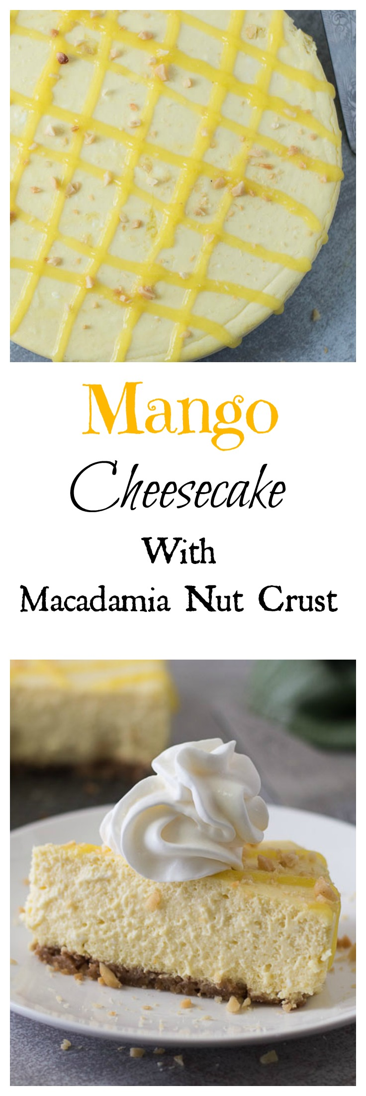 Mango Cheesecake with Macadamia Nut Crust