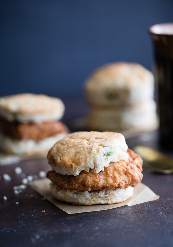 Fried Chicken Jalapeno Cheddar Biscuits - Savory Spicerack