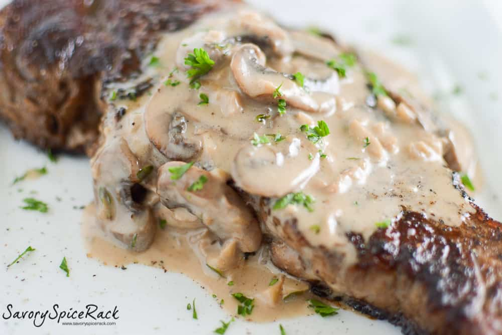 steak with bourbon mushroom sauce 2