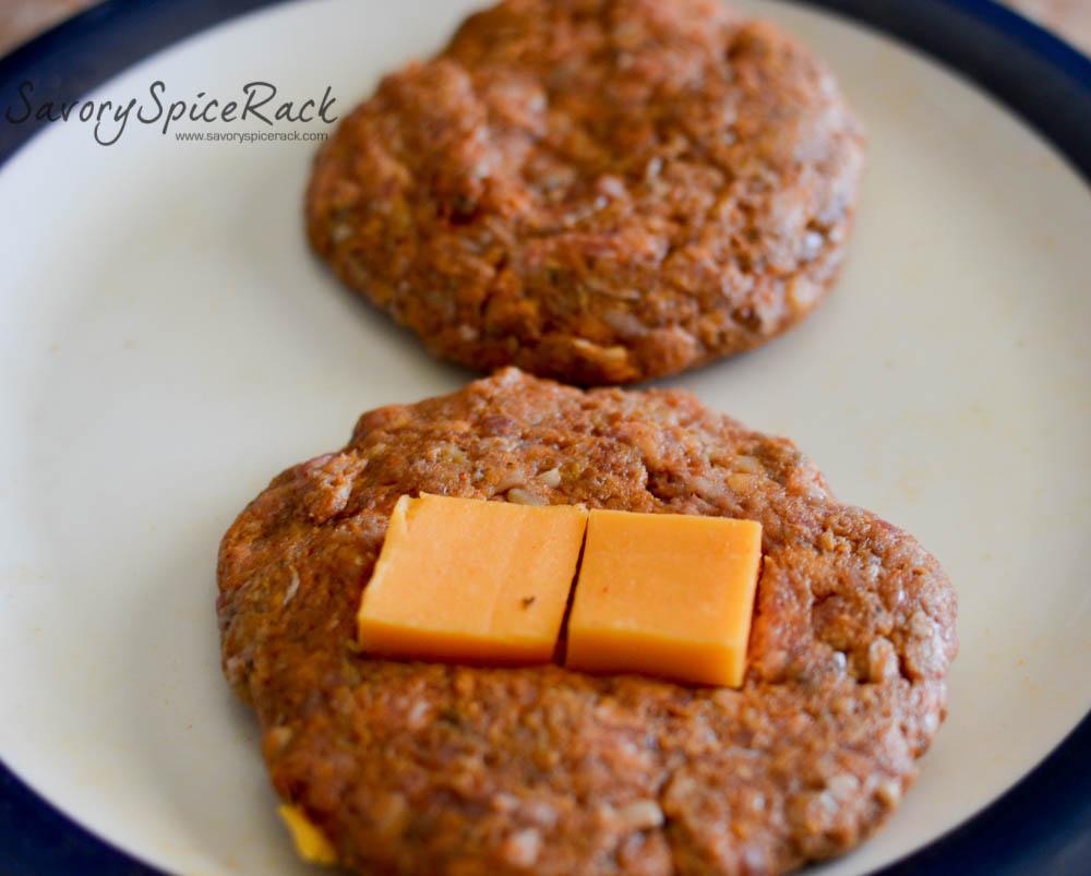 stuffed chorizo burgers