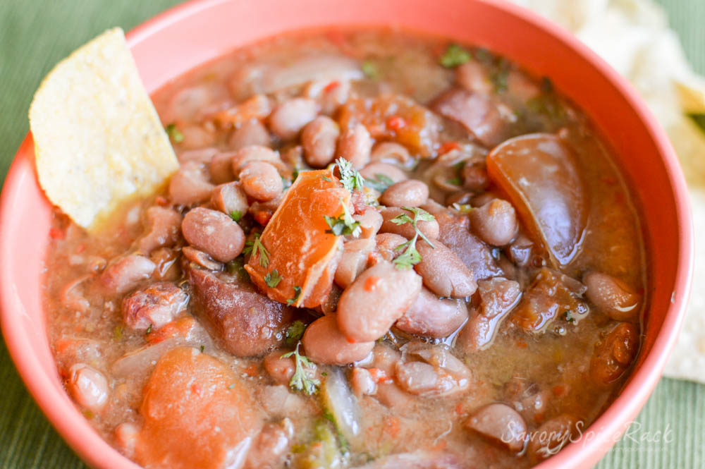 Easy Slow Cooker Charro Beans