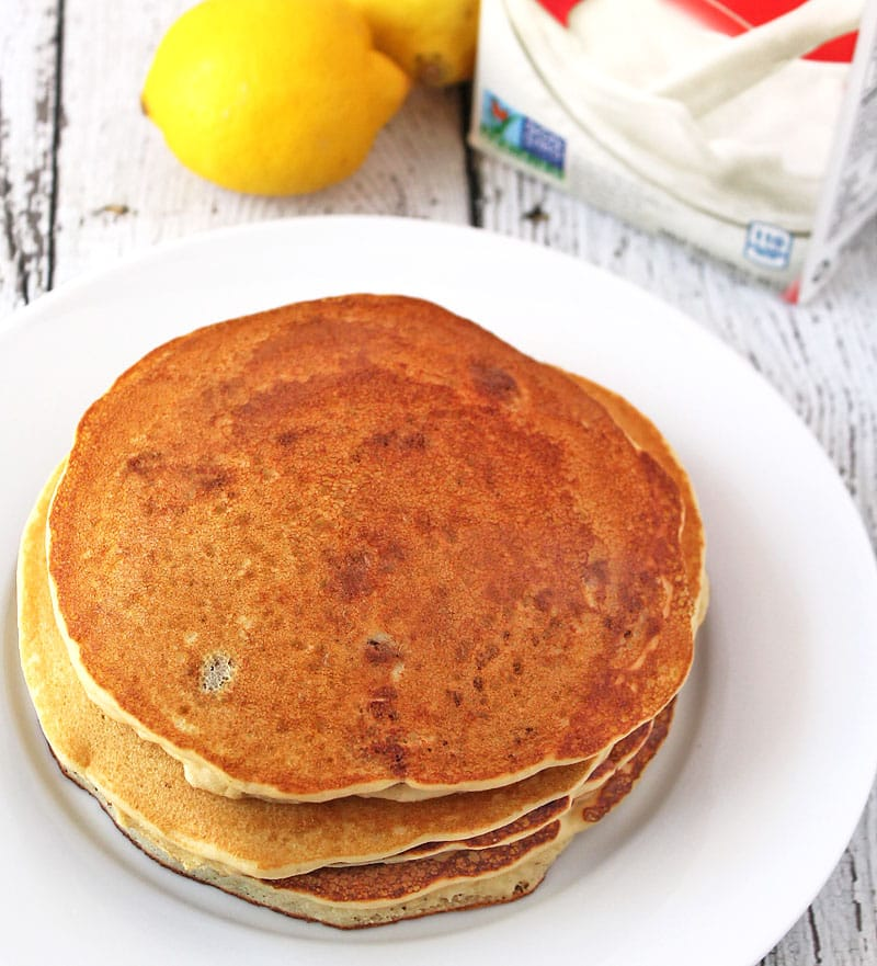 Lemon Pecan Pancakes