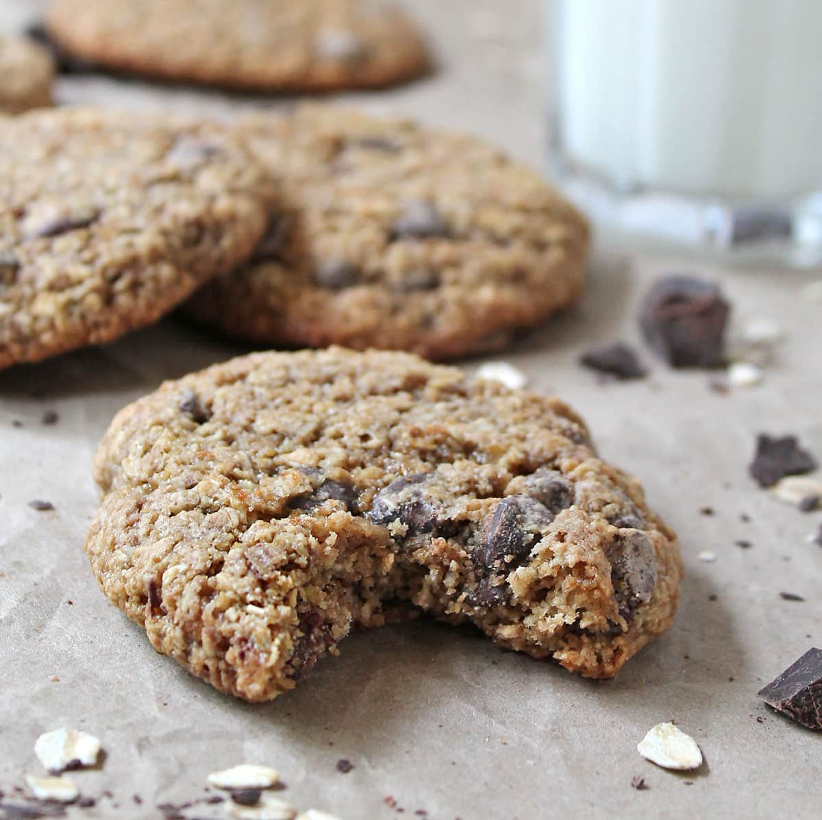 My Favorite Gluten Free Oatmeal Chocolate Chip Cookies