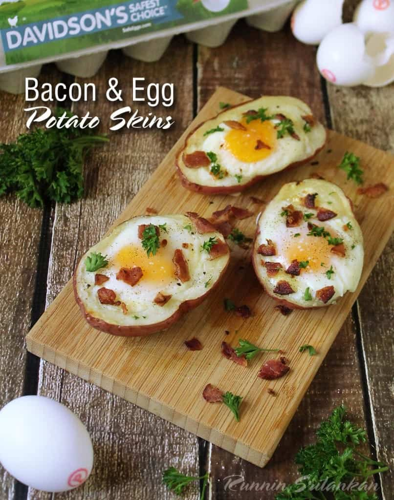 Bacon Egg Potato Skins @RunninSrilankan