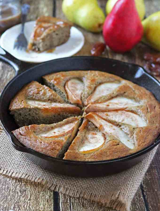 Pear Date Skillet Cake