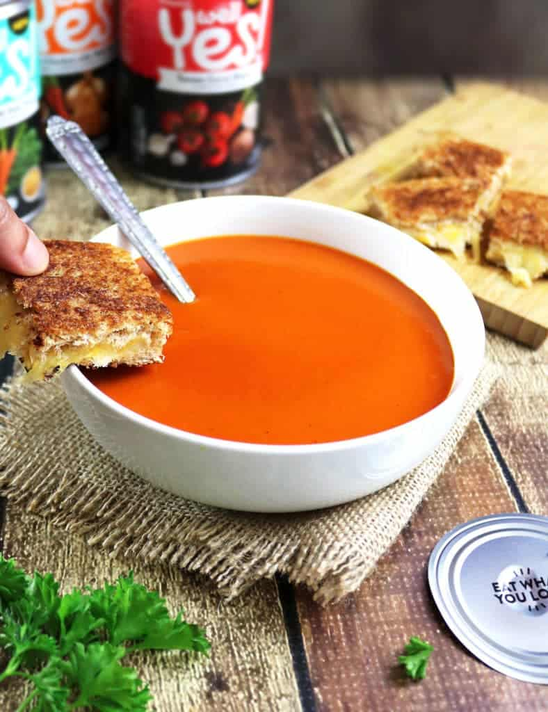 Almond Oil Grilled Cheese with Campbell's Well Yes!™ #WellYesMoment