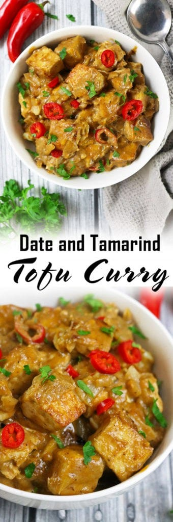 Vegetarian Date Tamarind Tofu Curry