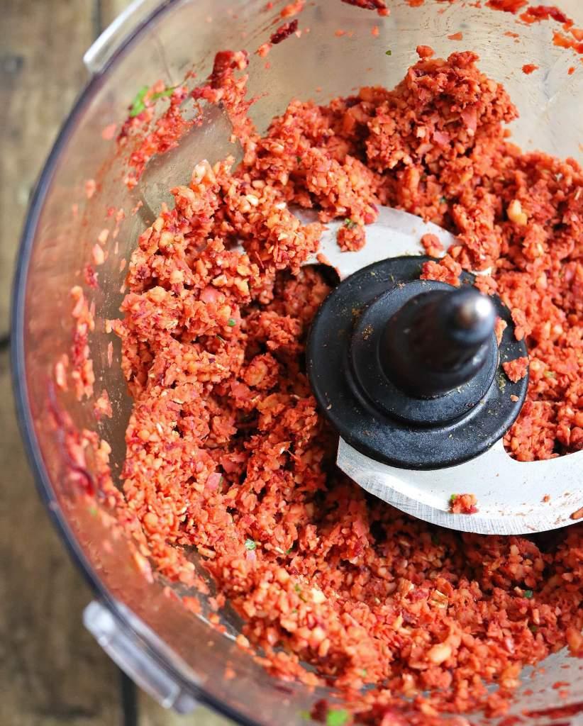 Easy Beet Burger Preparation