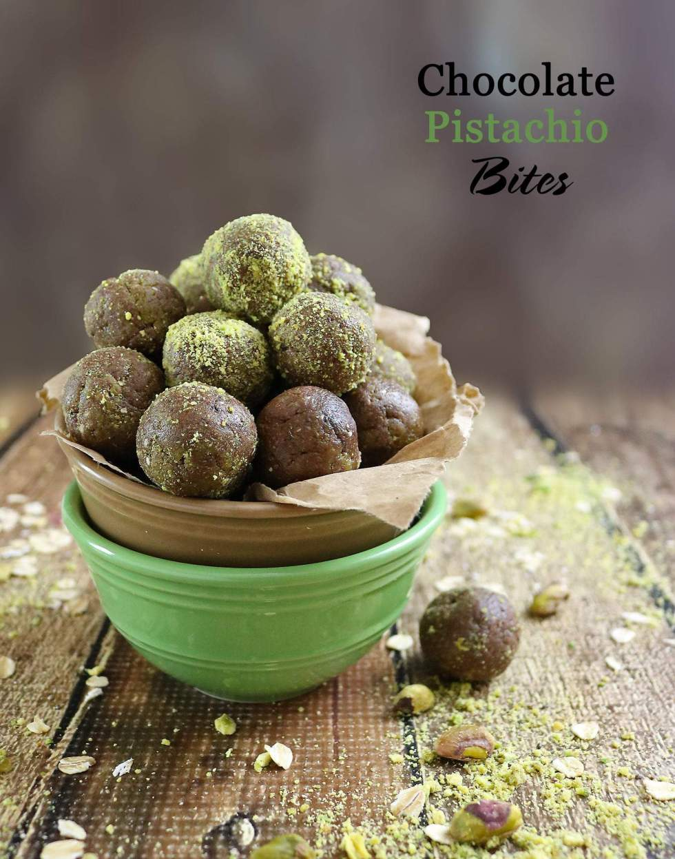 Gluten Free Pistachio Chocolate Bites