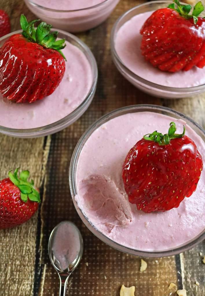 Dairy Free Gluten Free Strawberry Cashew Cups