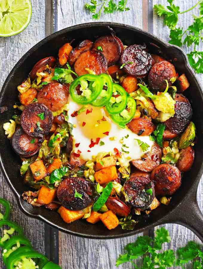Easy Smoked Sausage And Veggie Breakfast Sauté