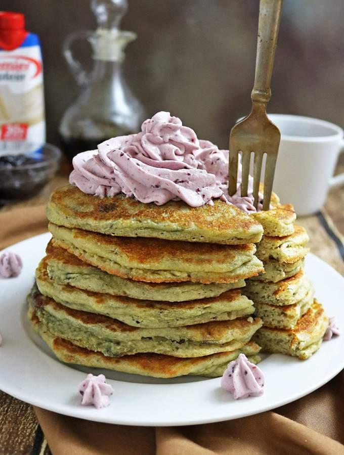 Delicious Marionberry Protein Pancakes