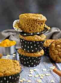 Pumpkin Pecan Protein Muffins