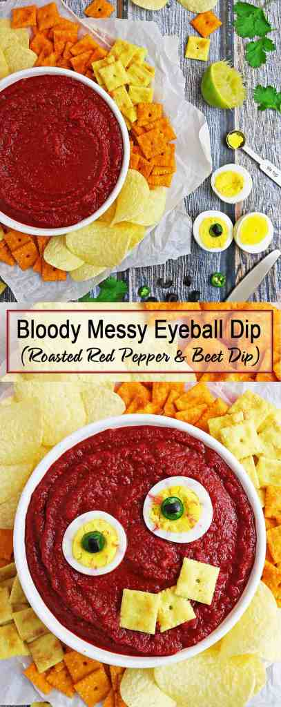 Bloody Messy Roasted Red Pepper Beet Dip #SnackItAndPackIt #SeasonalSolutions